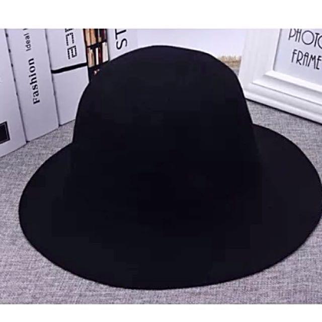 [二手]微波浪帽簷毛呢紳士帽