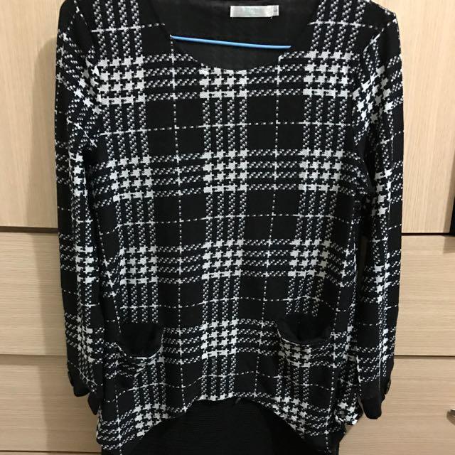 東區服飾店購買連身假兩件洋裝