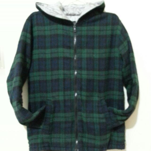 綠格子外套