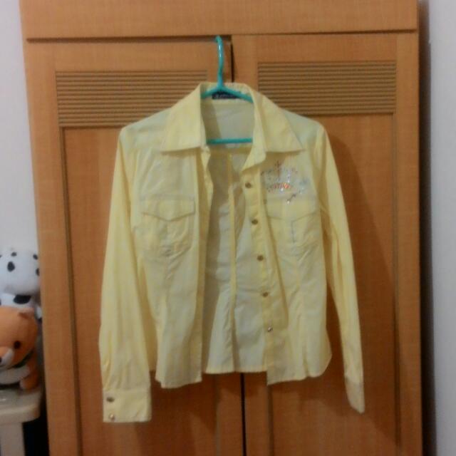 亮黃色造型襯衫