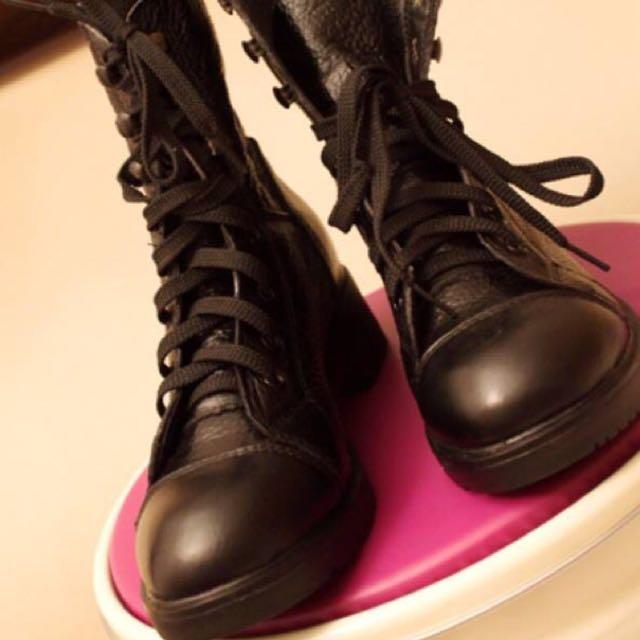 馬丁短靴/黑騎士靴