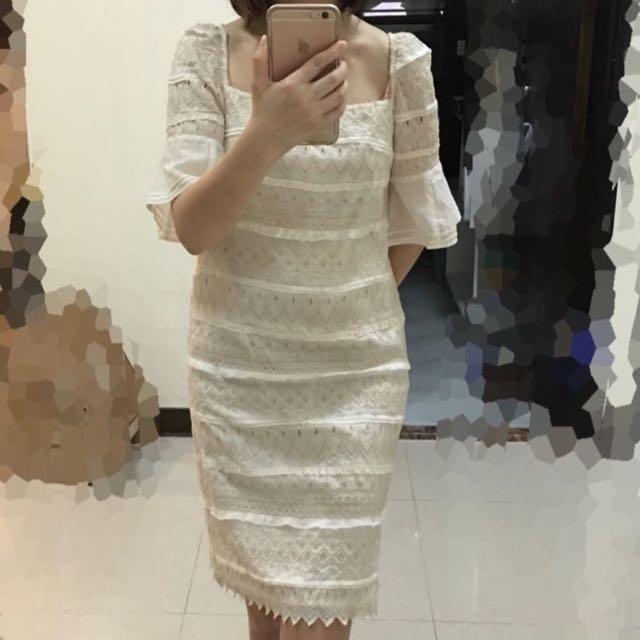 日本買回 Smacky Glam布蕾絲洋裝 一字 兩穿