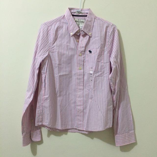 Abercrombie & Fitch 男童條紋襯衫 XL