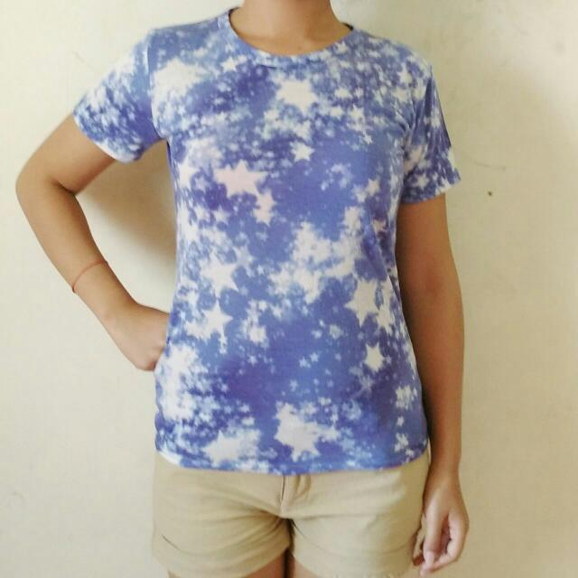 Abstract Blue Shirt