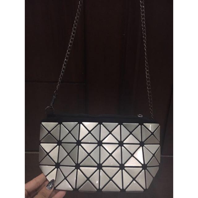 Reprice !! Bao Bao Minibag Silver