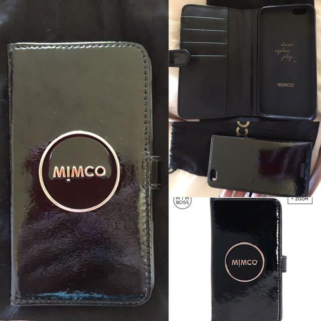 Black Mimco iPhone 6 Plus Wallet Case