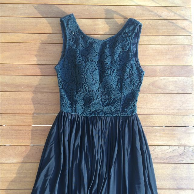Black Short Length Dress