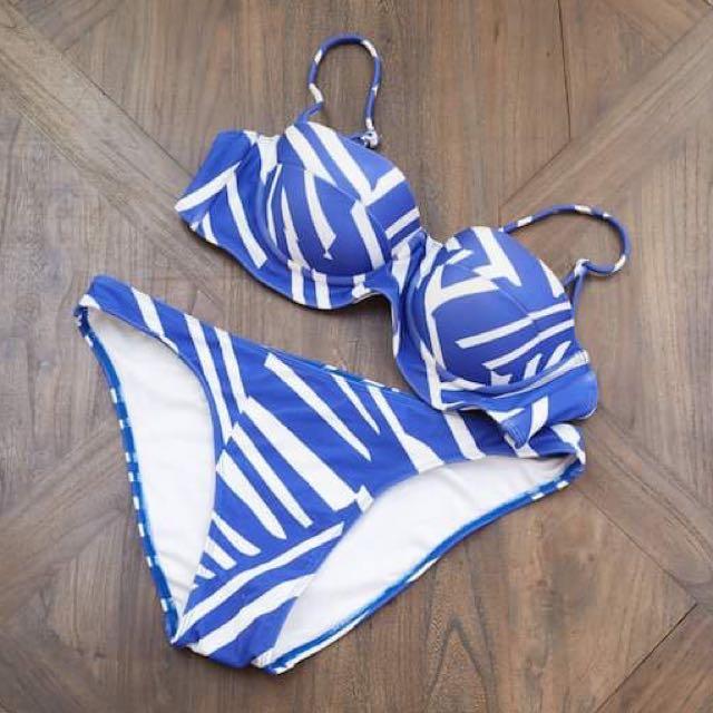 Blue & White Bikini