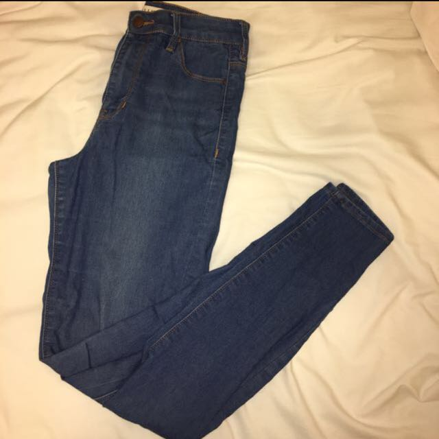 Blue High Waisted Skinny jeans Pacsun