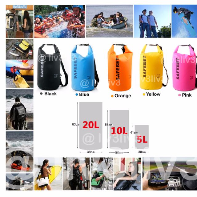 BN Waterproof Safebet Dry Bag 5L 10L 20L 86efe9f8e01d7