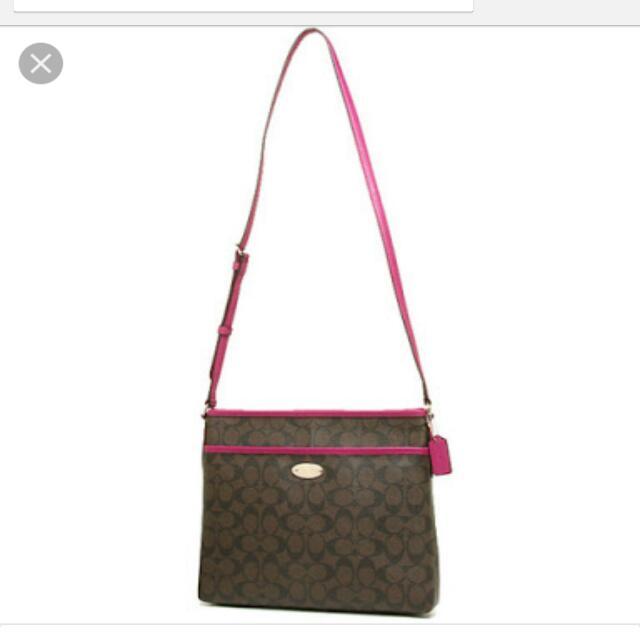 Brand New Coach Bags, Signature File Bag