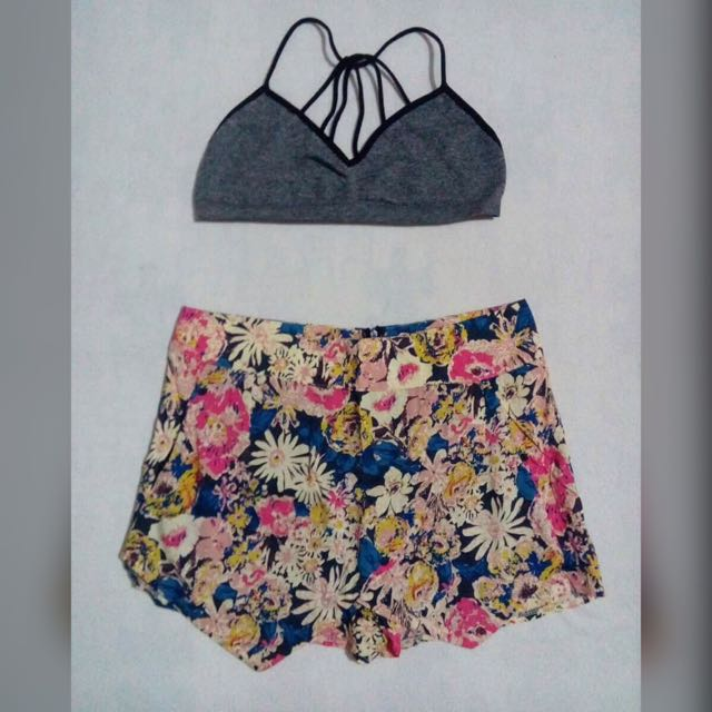 Chicabooti Floral Skorts