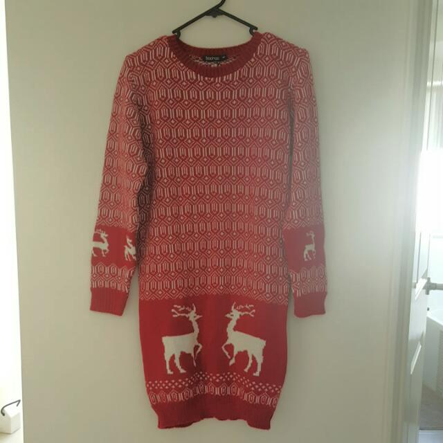 Christmas Jumper Dress Size 10-12