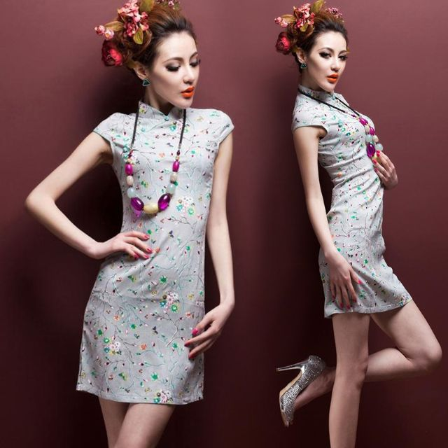 725e067eeea CNY Modern Plus Size L 3XL 4XL Cheongsam Chinese Dress QiPao Blouse Oriental  Traditional 棉麻旗袍 CS324