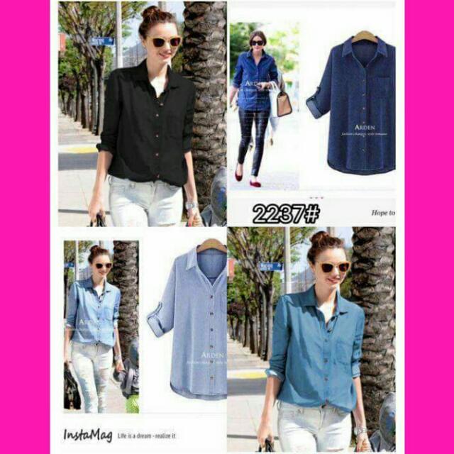 Denim blouse