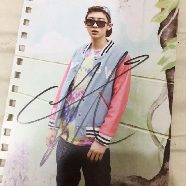 Exo燦烈韓國簽名會親筆簽名