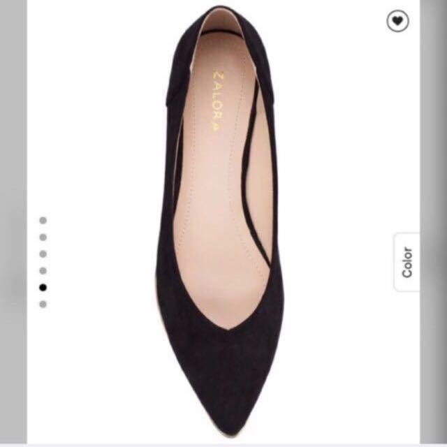 FREE 📦‼️ NEW ITEM‼️ZALORA Pointed Ballerinas With Metal Trimmings