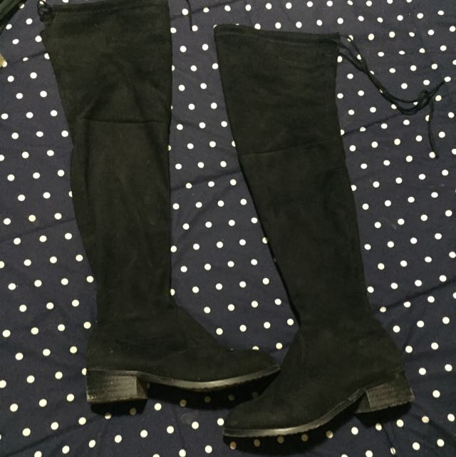 RESERVED - Fake Stuart Weitzman Over The Knee Boots In Black