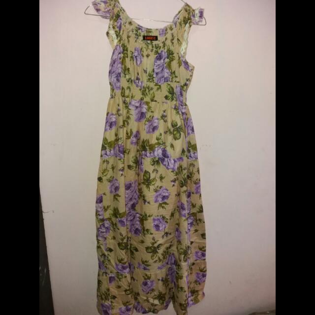 Floral Long Dress (Free Bolero)