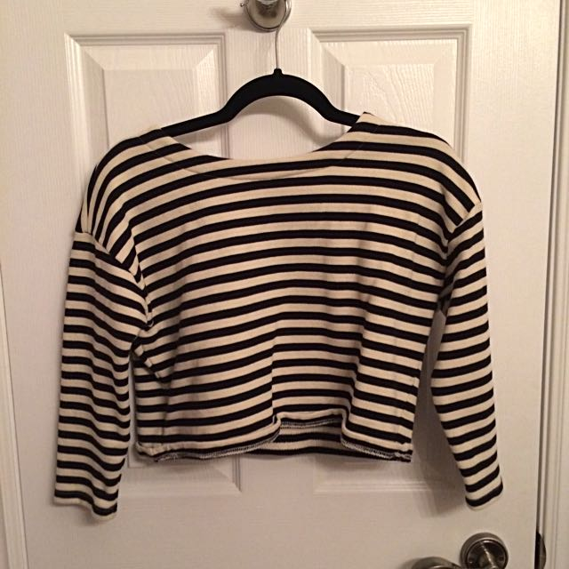Forever 21 Striped Crop Top