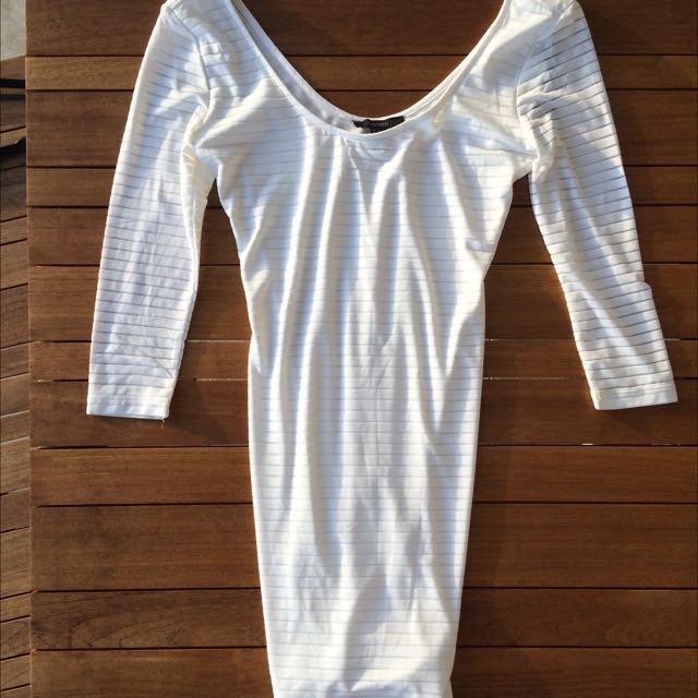 Forever 21 White Tight Dress Size M