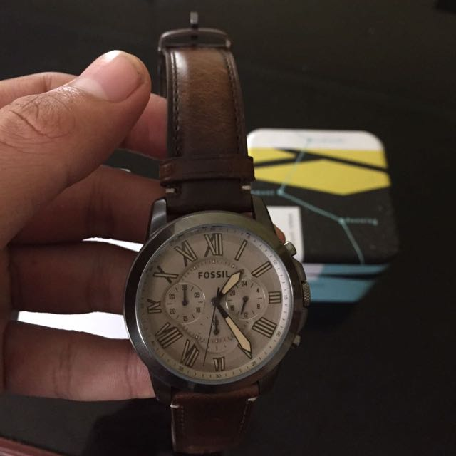 Fossil grant chronograph Brown