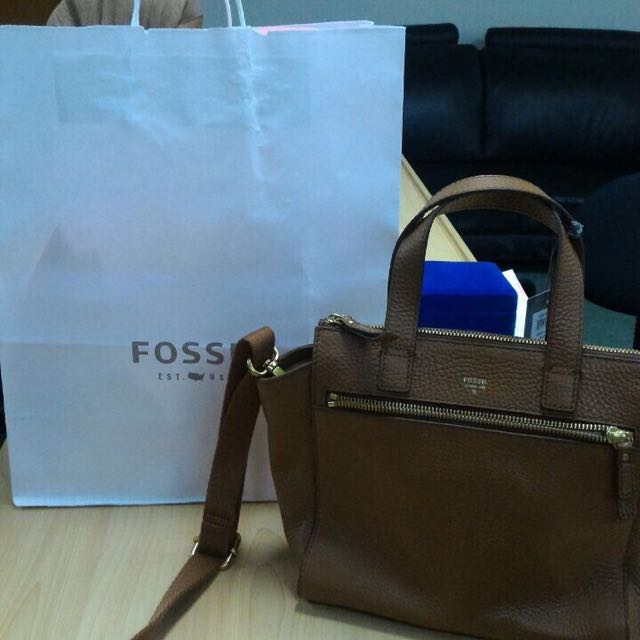 Fossil Tessa Scethel Brown Authentic Bag