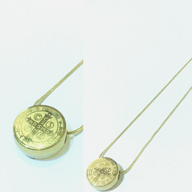Gold St. Benedict Necklace