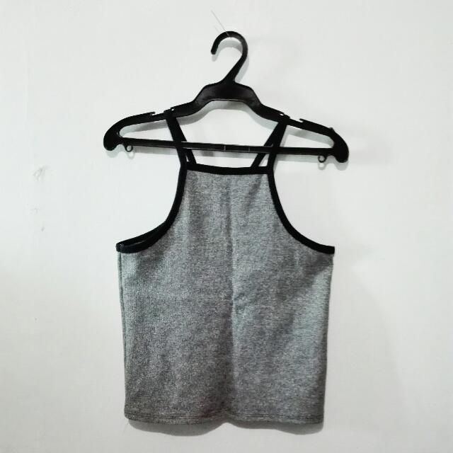 Gray Halter Top