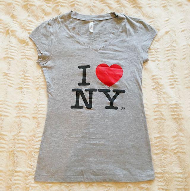 Gray 'I ❤️ NY' T-shirt - Small