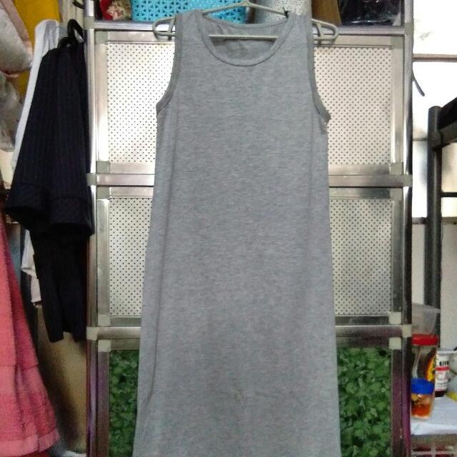 Gray Sexy Maxi Dress