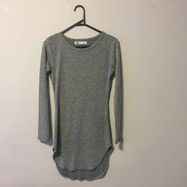 Grey Top/mini Dress