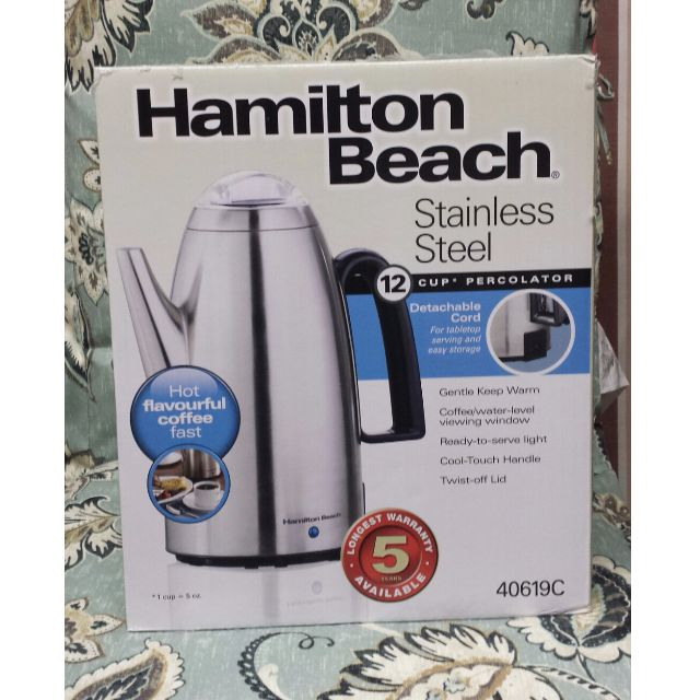 Hamilton Beach Stainless Steel 12 Cup Percolator
