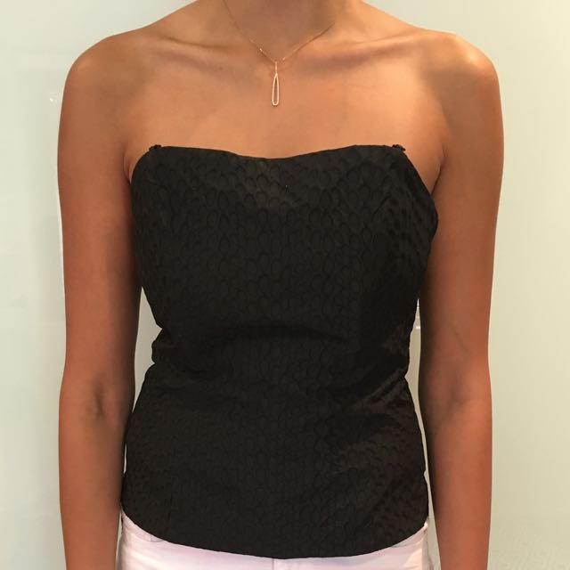 Imprinted Strapless Top