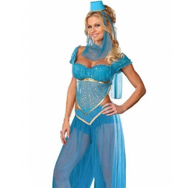 85cbc1fe9863 Jasmine Aladdin Disney Arab Belly Dance Costume - Halloween / Xmas ...