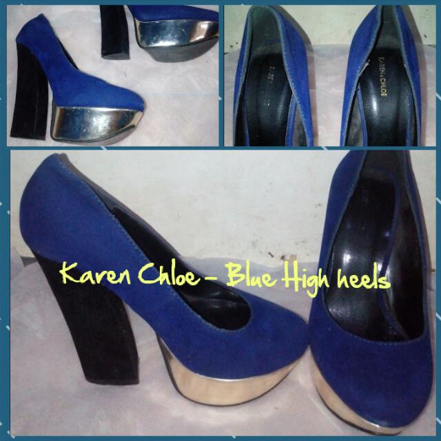 Karen Chloe - Blue High Heels