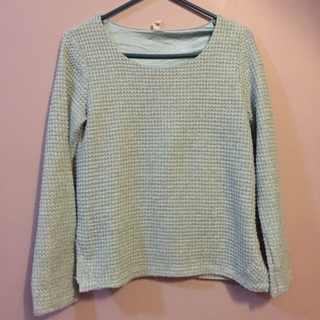 Knit Mint Long Sleeves