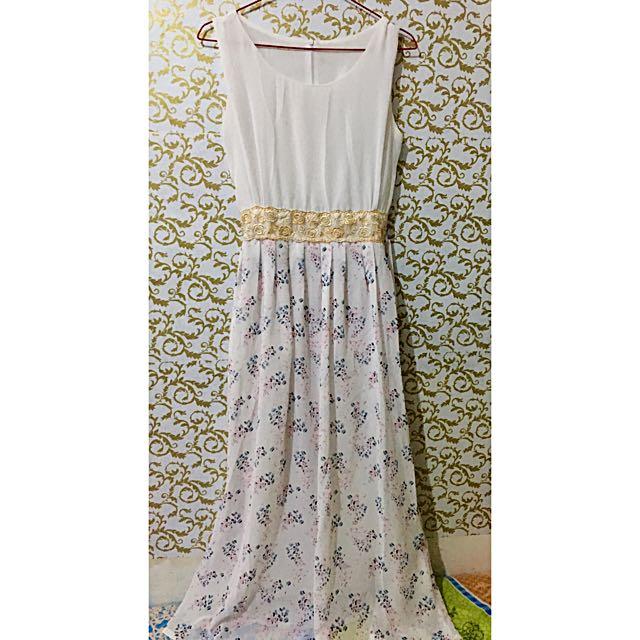Long Dress / White Dress / Dress Pesta / Baju Pesta / Party Dress