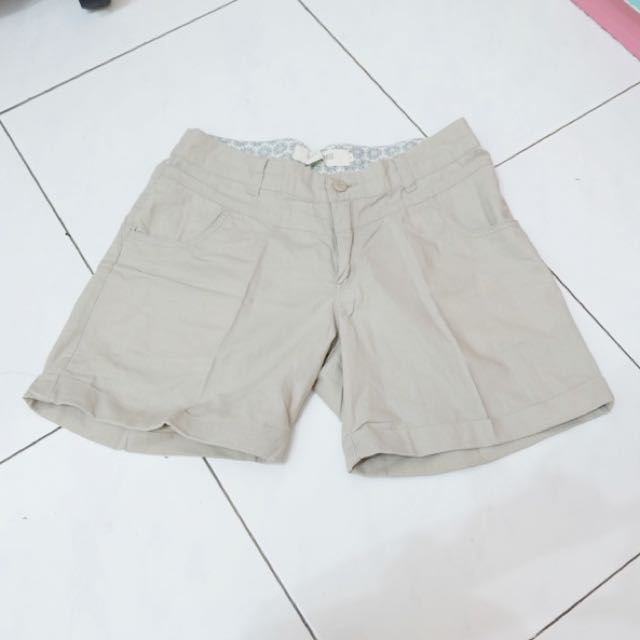 Midi Beige Chino Shorts Pants