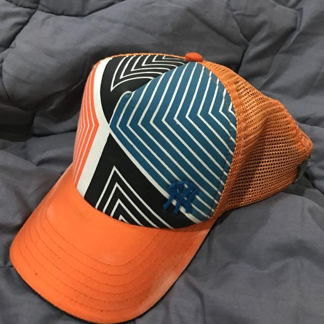 orang yankees cap