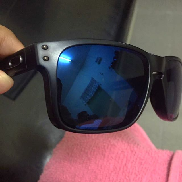 b3ce24dd6f Original Oakley Holbrook Matte Black Ice Iridium Polarized Lens ...