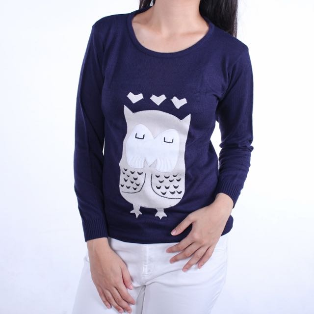 Owl Sweater Navy