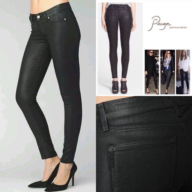 Paige Wax Coated Denim