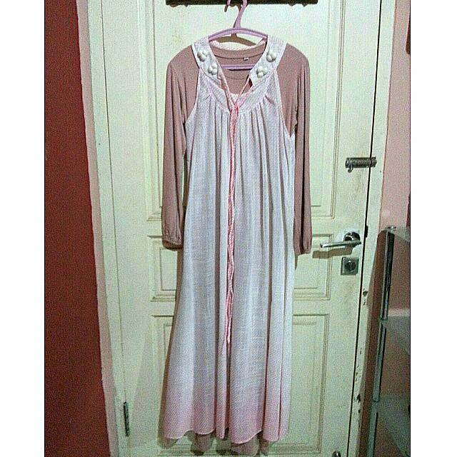 Peach Pom Gamis Dress