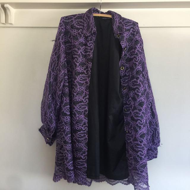 Purple Lace Overshirt/coat