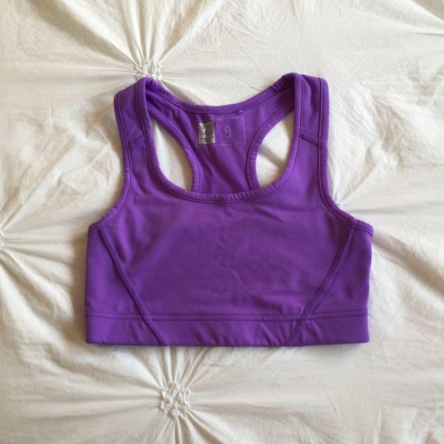 Purple Sports Crop