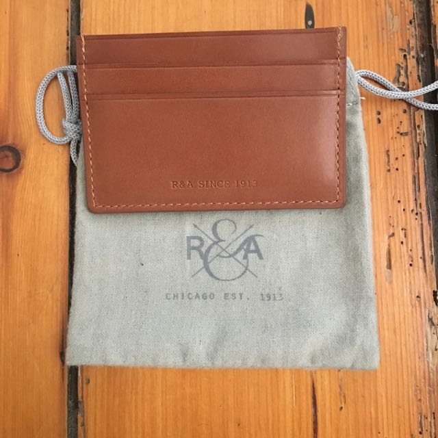 R&A. Leather Card wallet