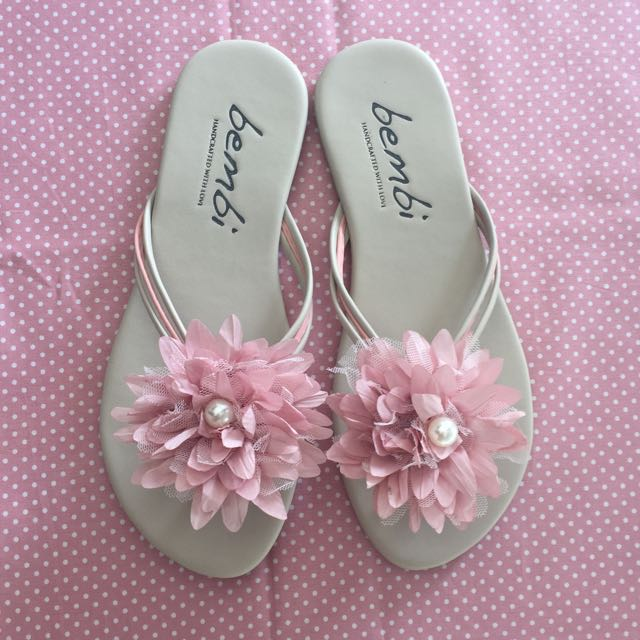 (NEW) Pink Chrysant Sandal