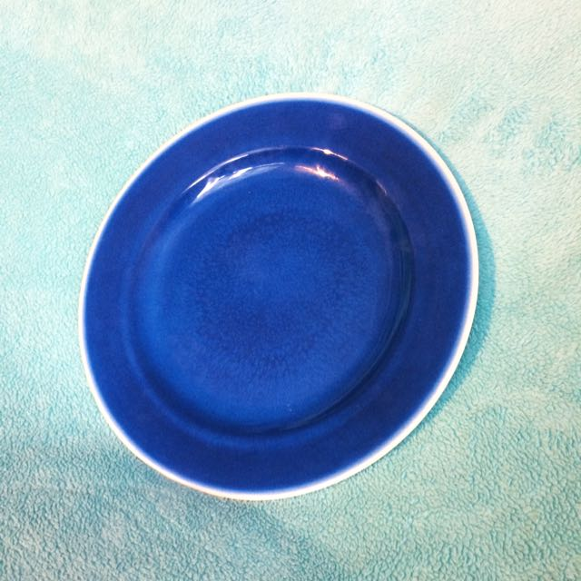 Set of 8 Blue 10 Inch Plates
