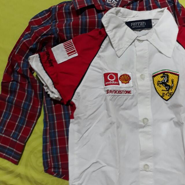 Short And Long Sleeves Polo Combo 3-4yo
